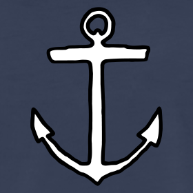 anchor-white-black-outline-t-shirt_design
